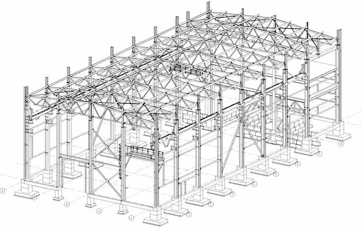 Проект здания из металлоконструкций